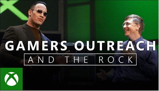 "Gamers Outreach and Dwayne ""The Rock"" Johnson"