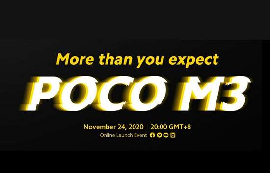 Poco M3 launch date