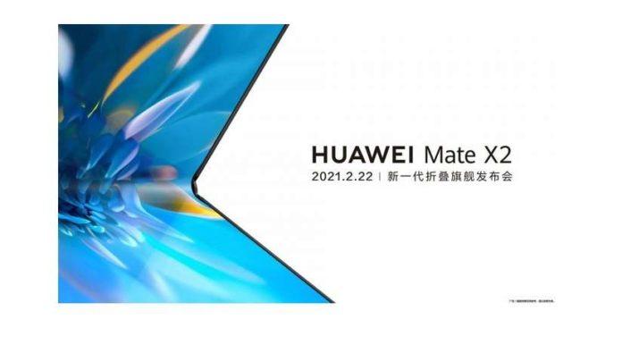 Huawei Mate X2 launch poster