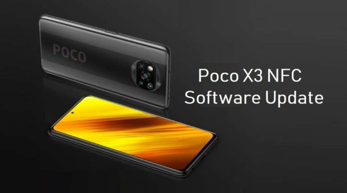 Poco X3 NFC software update