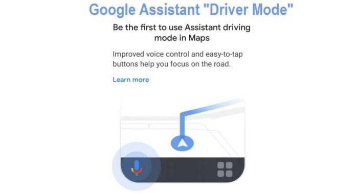 Google Assistant Driver Mode