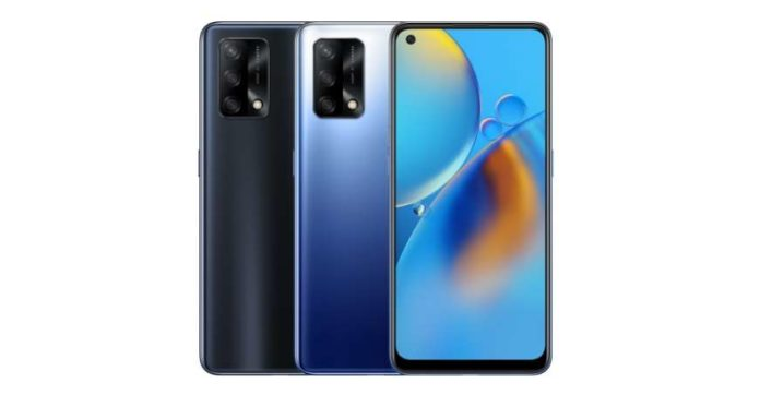 OPPO F19 in Prism Black and Midnight Blue