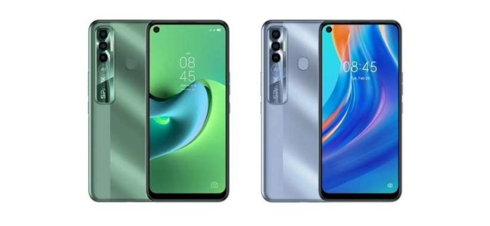 Tecno Spark 7 Pro in Spruce Green and Alps Blue