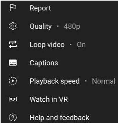 loop option on YouTube mobile