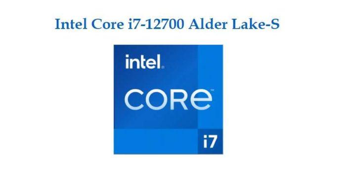 Intel Core i7-12700 Alder Lake-S