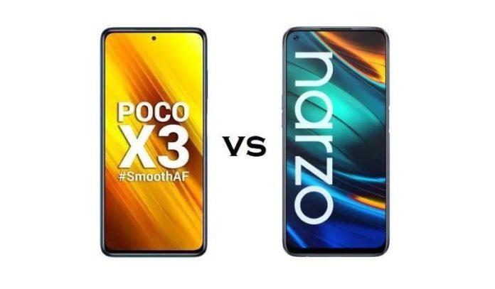 Compare Poco X3 and Realme Narzo 20 Pro Specifications