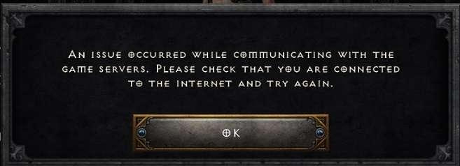 Diablo 2 Resurrected error message