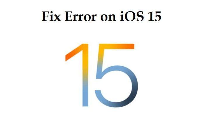 Error on iOS 15