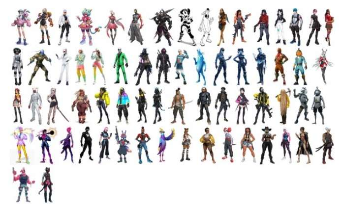 Fortnite Epic Skins collection