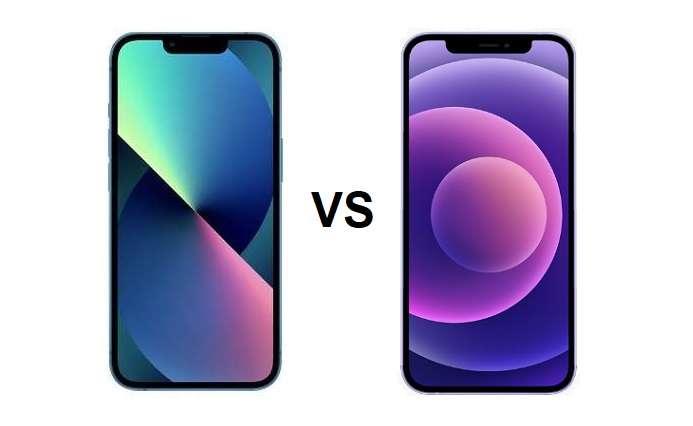 compare iPhone 13 vs iPhone 12